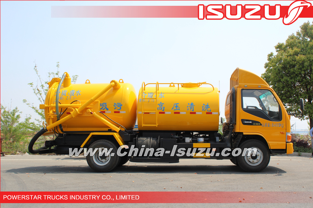 6000Liter Isuzu Sewer Cleaning Combination Vacuum Jetting Trucks