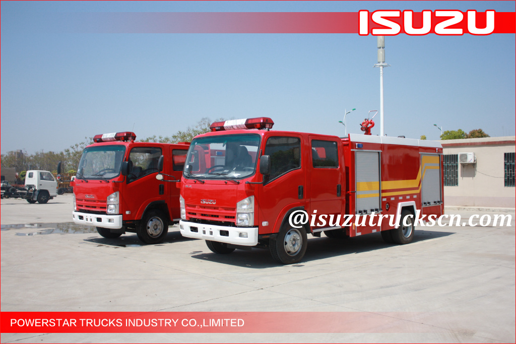 3500L ELF 700P ISUZU Water Foam Fire Fighting Trucks