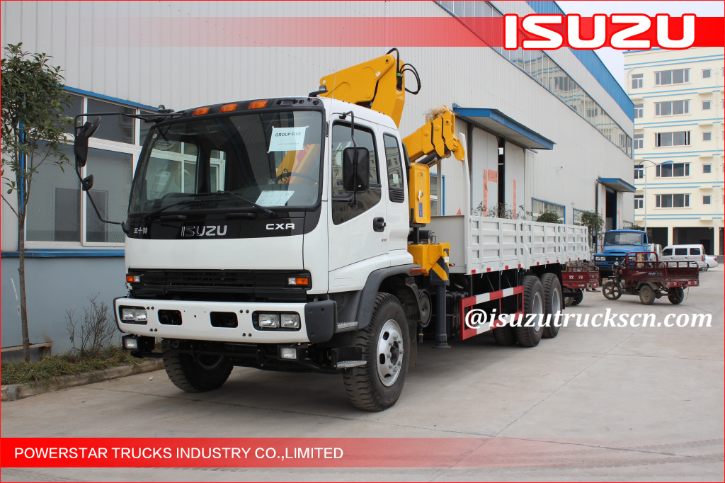 Isuzu 10 ton telescopic crane mounted on truck with good after sale service