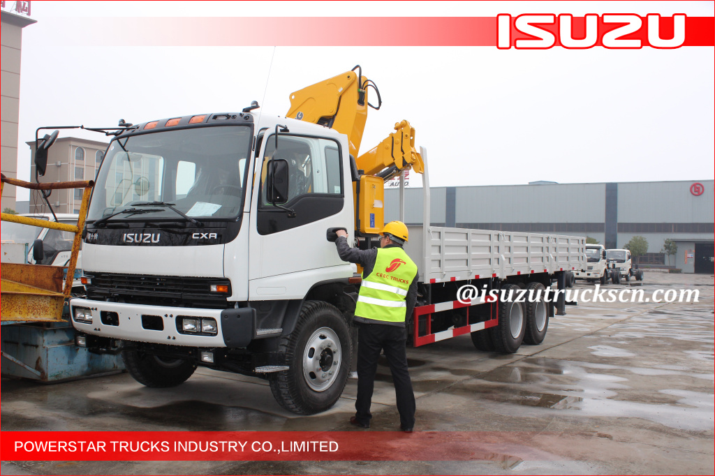 8tons capacity Isuzu folding arms Crane Truck