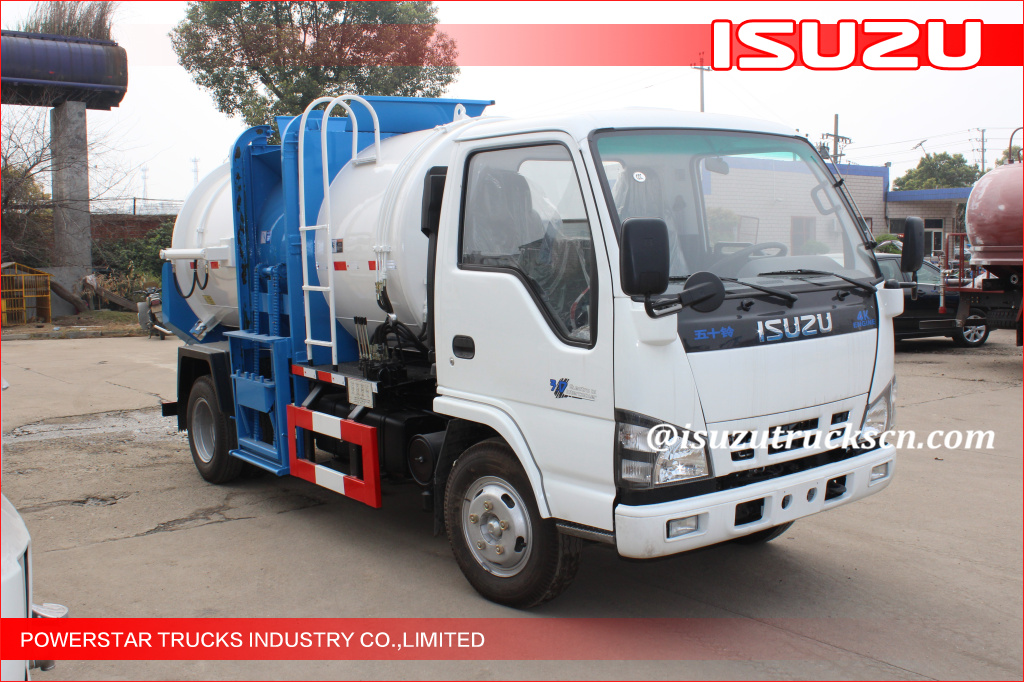 3ton isuzu Mobile Kitchen Garbage Truck food waste collection vehicle Isuzu