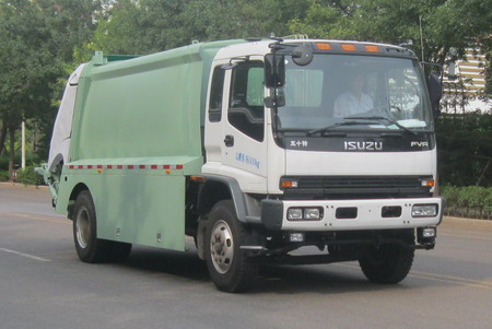 2015 ISUZU 12cubic meter 4*2 compactor garbage truck for sale sanitation truck for sale in dubai