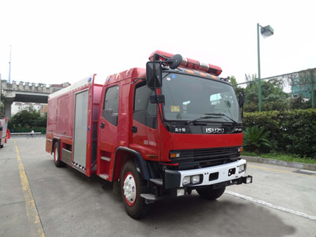 Isuzu fire truck with Rosenbauer NH30 high and normal pressure fire pump