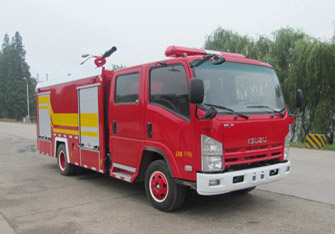 New water tank type Isuzu 4000L small fire truck