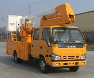 14m High Boom Bucket Operation Truck Isuzu chassis