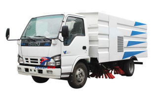 Philippines custom made 5tons street cleaning sweeper truck Isuzu