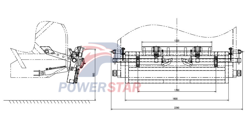 Garbage compactor truck mechanism type for customer optional