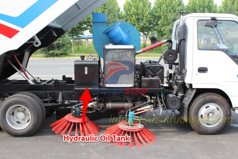 Hydraulic oil tank for road sweeper kit super structure