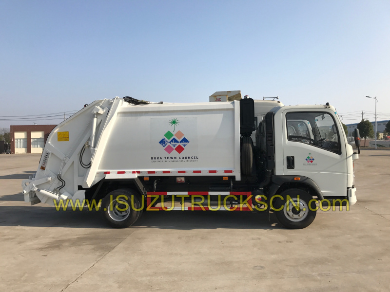 Refuse Compactor vehicle HOWO Waste compactor truck