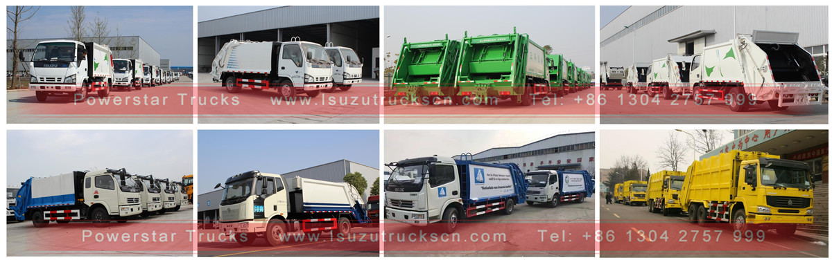 Isuzu garbage trucks instore by powerstar trucks