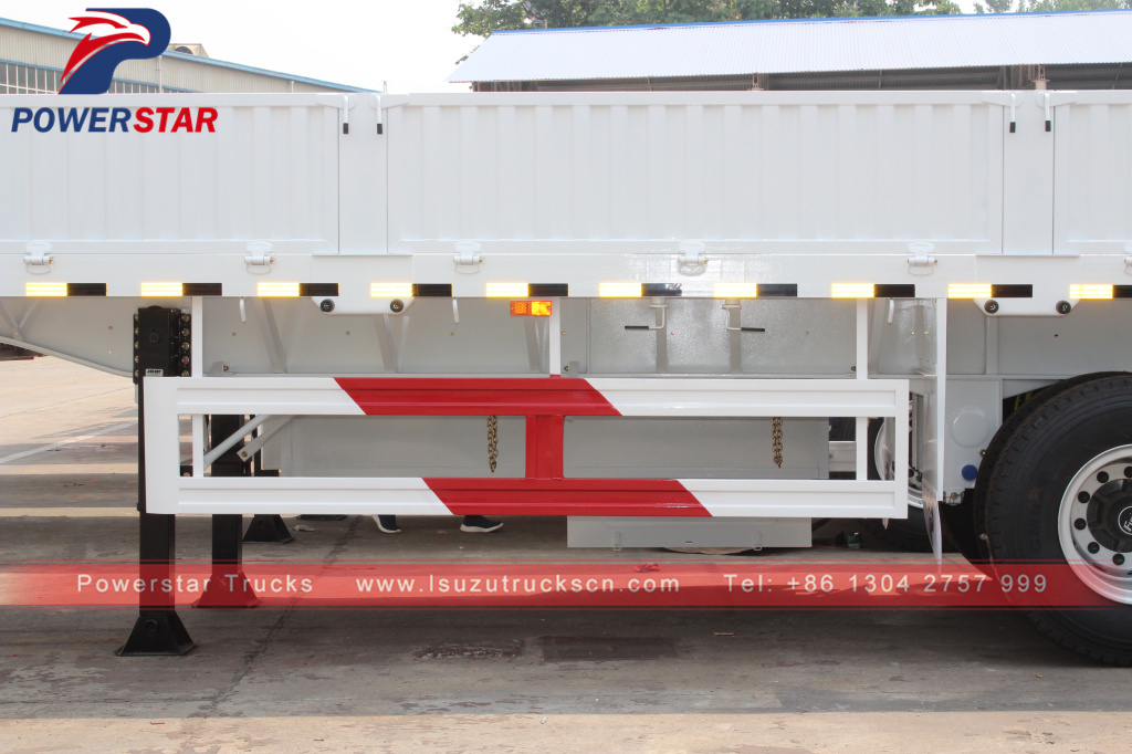 China low price 40 Ton Flatbed Trailer With Side Board Wall Cargo Semi Trailer For Sale