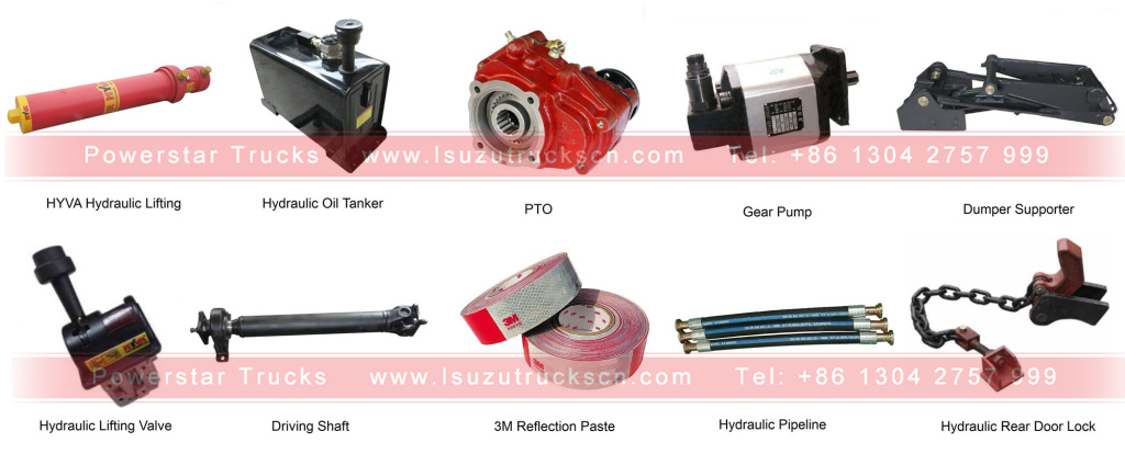 Spare parts for hino heavy duty dumper tipper trucks