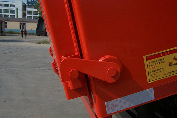Rear door safety hook for hino tipper trucks