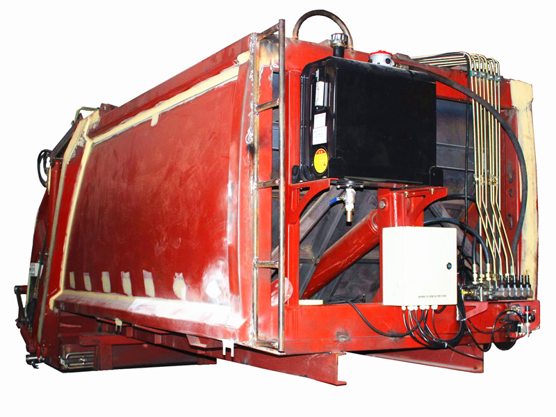 Hydraulic pressed garbage truck body kit system