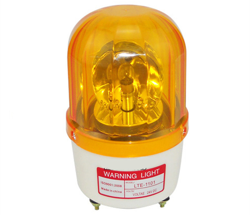 Rotating lamp for refuse compactor trucks