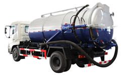 Large capacity heavy duty Vacuum Sewage Suction Truck ISuzu