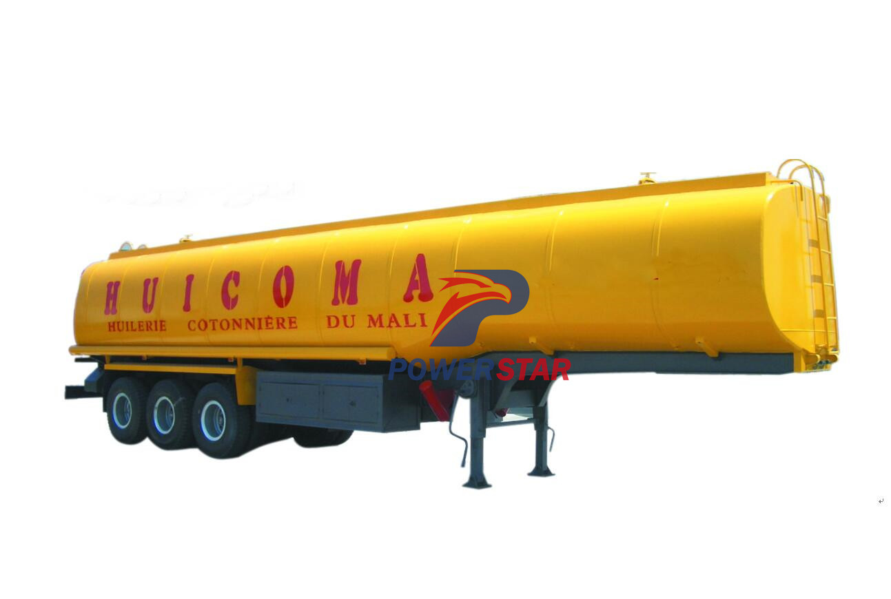 china best oil fuel tanker semi trailer with carbon steel for sale