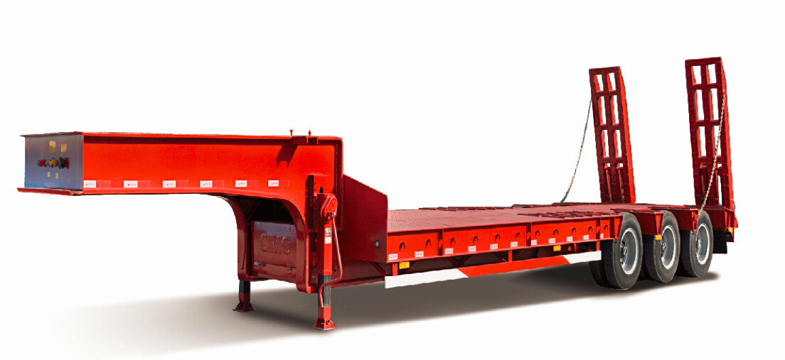 High quality 3 axle lowbed semi trailer for sale