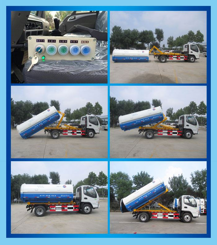 4*2 Japan brand  hook lift garbage truck Garbage truck with hook arm