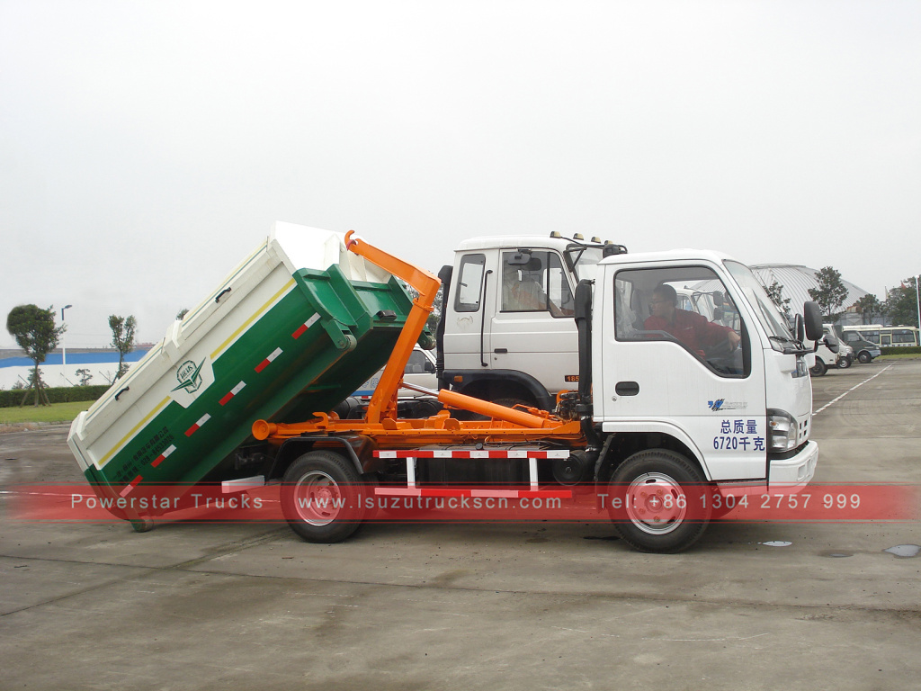 5 Tons 4X2 Pull Arm Truck Isuzu Arm Roll off Garbage Truck for Sale
