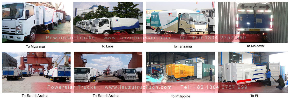 shipping for High vacuum road sweeper truck Isuzu