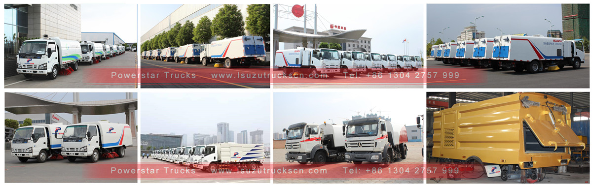 brand new Isuzu road sweeper cleaner truck stock for shipment
