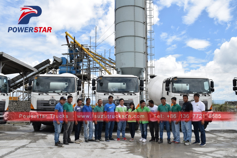 Philippines 6x4 10wheels HINO 10M3 Concrete Mixer Truck for sale