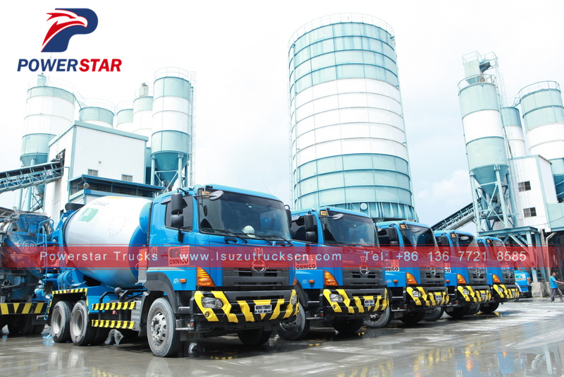 Japan new 8-10cbm ready mix hino concrete mixer truck hire