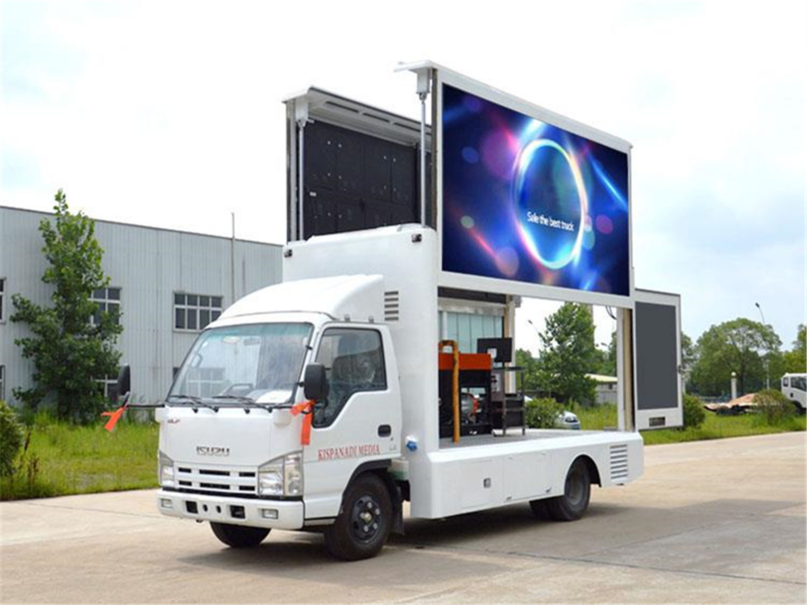 ISUZU 4x2 outdoor LED panel Advertising Display Trucks for sale