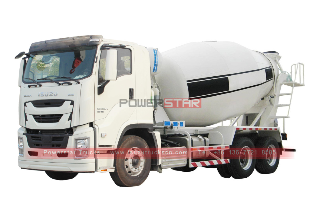 Isuzu GIGA 6x4 10 wheelers Cement Concrete Mixer Truck for sale