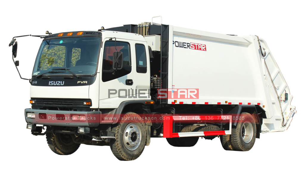 Trash Compressor Truck ISUZU Back Loading Garbage Compression Truck