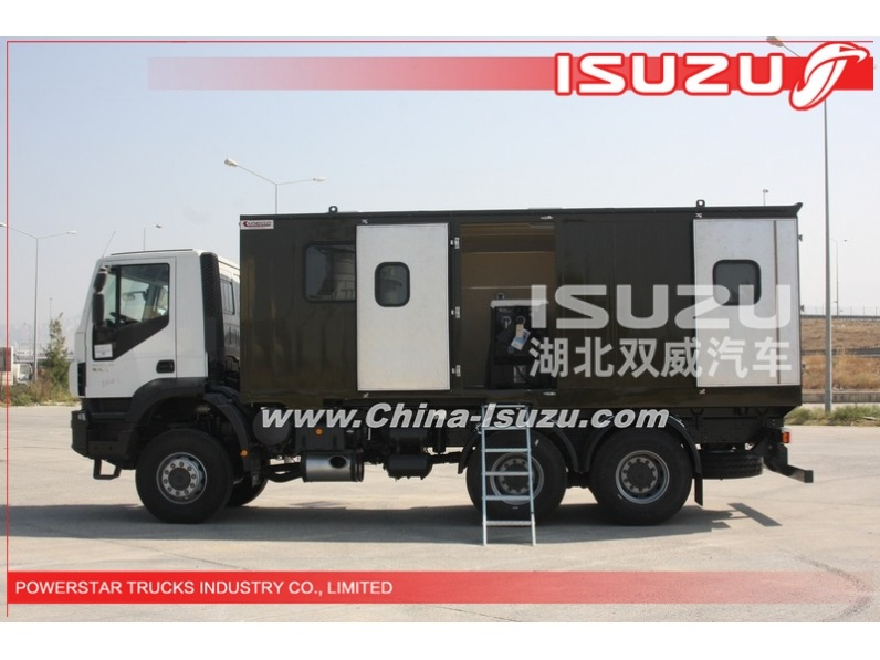 quality 6*6 10wheels Heavy duty Truck Mounted Workshop Truck