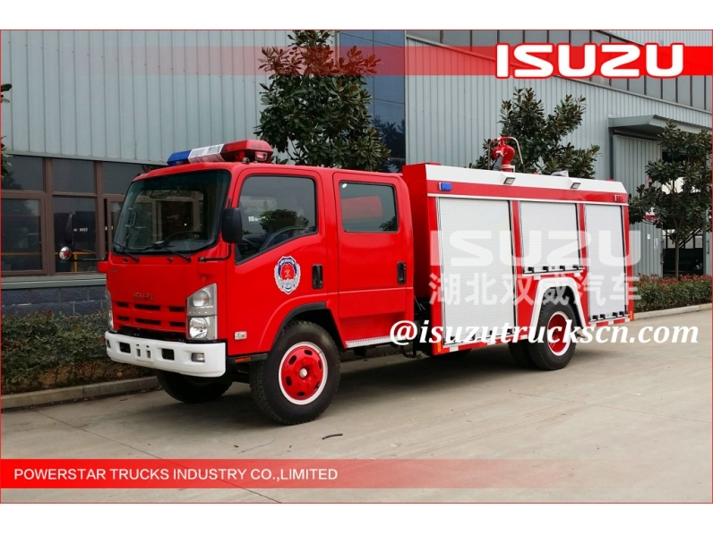 Low price of Isuzu 4000L Japanese Water Tank Fire Trucks