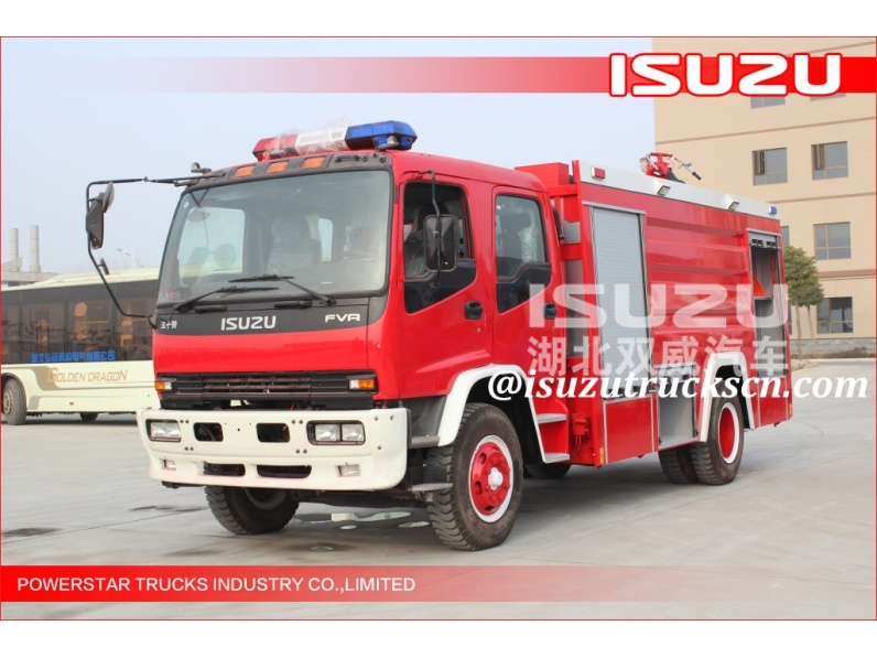 Philippines City Civil 4*2 8000L Water Tank Fire Truck Isuzu Chassis