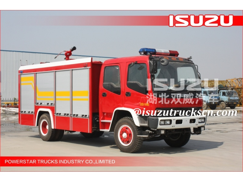 6Wheels Isuzu FVR Water Foam Fire Fighting trucks