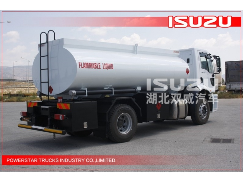 12000L ISUZU Small Oil Tanker Truck for Transport Chemical Liquid 4x2 12m3