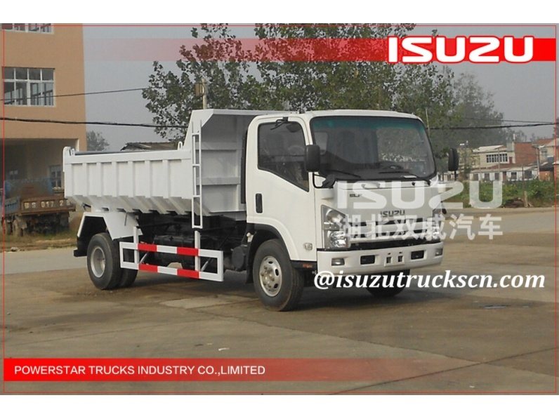 2015 HOT SALING 5Ton Japanese Elf Isuzu tipper trucks 6wheels