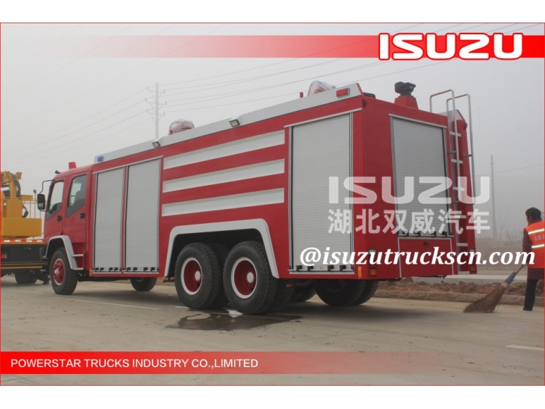 Japanese  ISUZU 12t water tanker/foam fire truck for sale