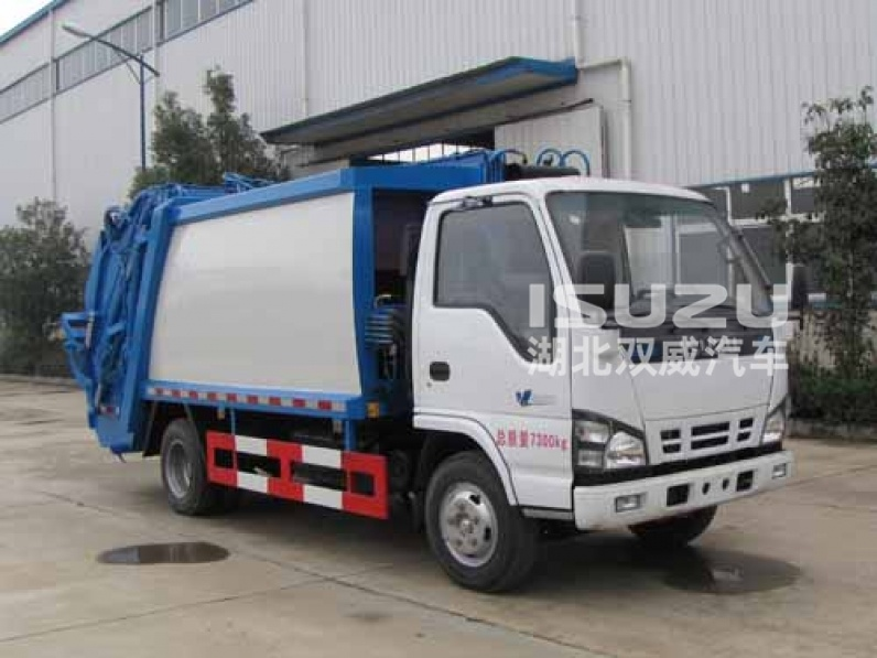 Isuzu 3 tons garbage compactor truck, 3 m3 rubbish collection truck, garbage collection vehicle