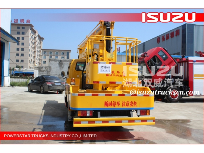 Isuzu truck mounted boom lift