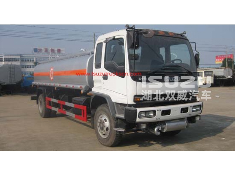 ISUZU 12000L Small Oil Tanker Truck for Transport Chemical Liquid