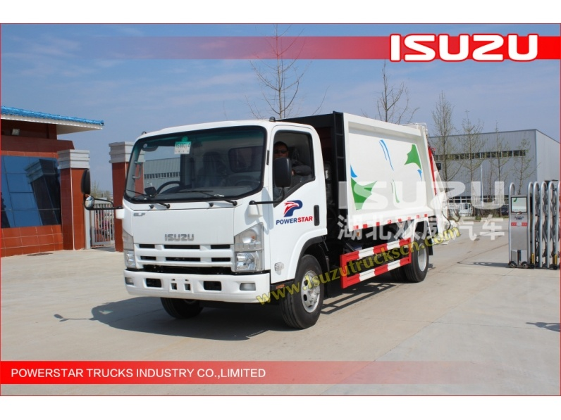 rear loader type 8Cubic meter ELF ISUZU Refuse Truck Compactor