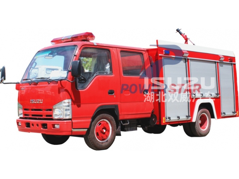 Producer for water tank fire truck Isuzu fire vehicle pictures