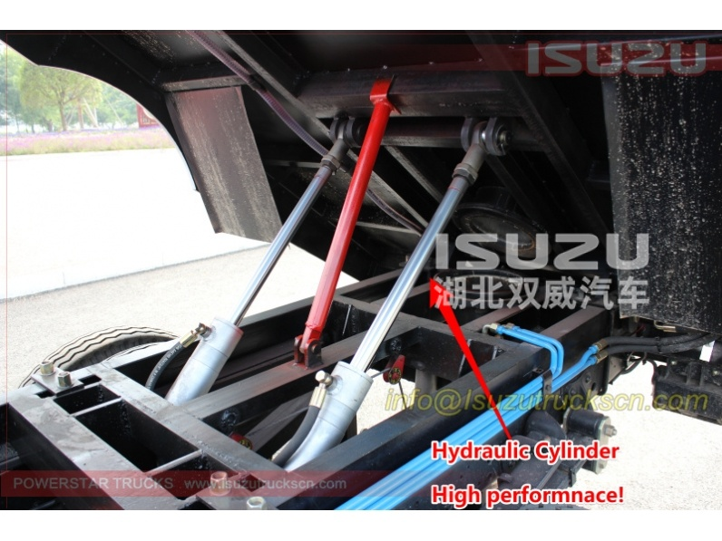hydraulic cylinder for road sweeper truck