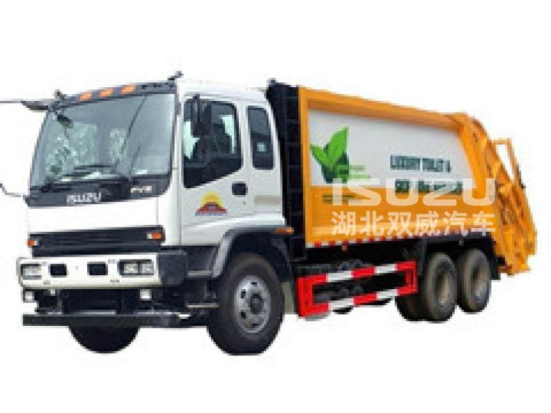 refuse compactor with truck chassis Isuzu rubbish transport vehicle