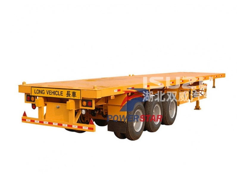 Powerstar 3 Axle 40 Inch Flatbed Semi Trailer For Sale