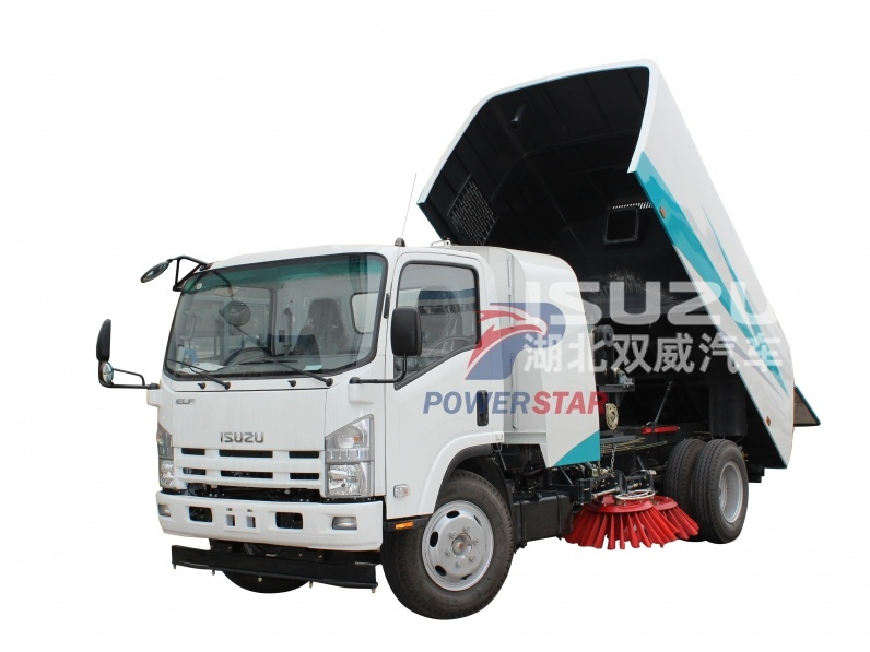 waste collection sweeper truck Isuzu