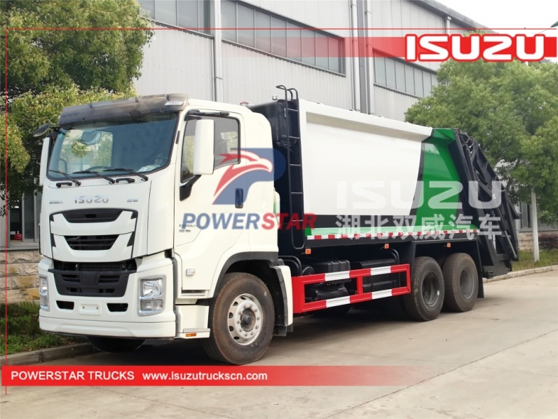 Japan ISUZU Refuse Garbage Trucks GIGA Waste Disposal Vehicles,