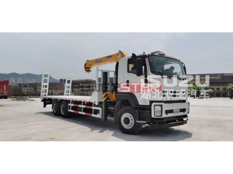 ISUZU Flatbed Truck for Excavator Transport
