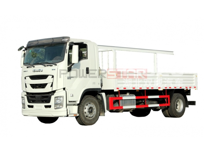 ISUZU GIGA Iron Wood Structure Dropside Lorry Truck for sale